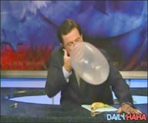Colbert Shot condom demonstration.