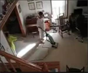 Crazy Vacuum Spaz Funny Video