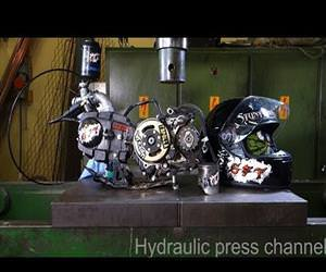 crushing things with a hydraulic press Funny Video