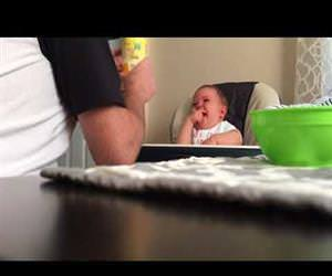 dad making the baby laugh hard Funny Video