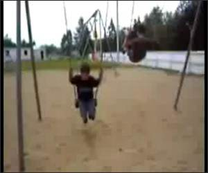 Double Swing Fail Funny Video