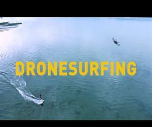 drone surfing is amazing Funny Video