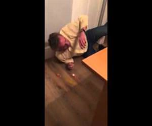drunk guy standing on an egg Funny Video