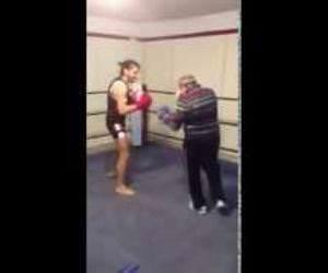 Elderly Boxer Funny Video