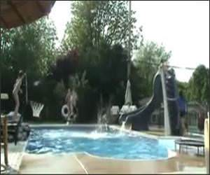 Epic Pool Basketball ShotVideo