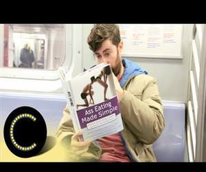 fake book covers on the subway Funny Video