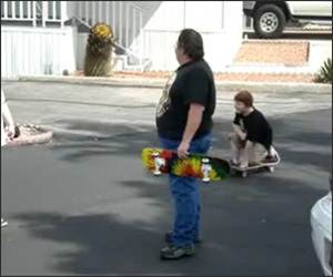Fat Guy Skateboarding Funny Video