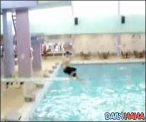 Fat Kid + Diving Board = Hilarious