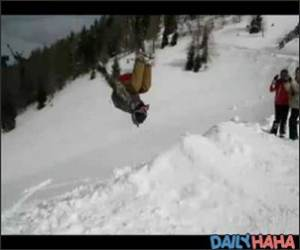 Freestyle Sledding Backflips Funny Video