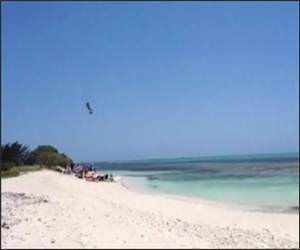 Giant Kite Surfing Jump Video