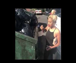 girl licks a dumpster for money Funny Video