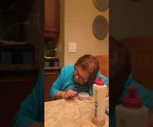 grandma learning to use google home Funny Video