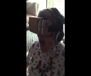 grandma using virtual reality Funny Video