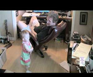 grandpa and baby talking to each other Funny Video