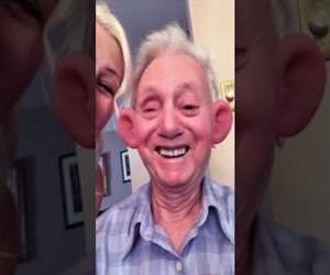 grandpa discovers snapchat filters Funny Video