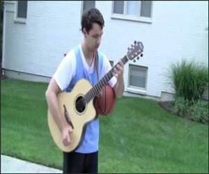 Guitar Basketball Funny Video