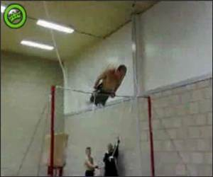 Gymnast into Wall Video