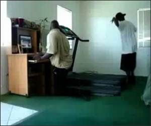 Hip Hop Treadmill Funny Video