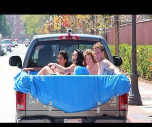 hot tub on the freeway Funny Video