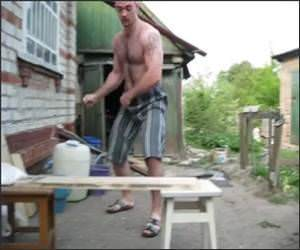 Human Russian Hammer Funny Video