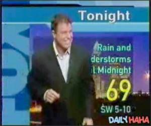 Insane weatherman