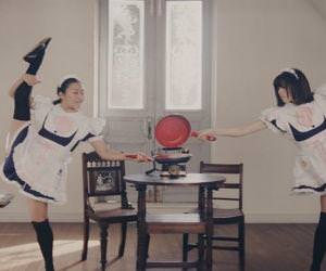 japanese maids making breakfast Funny Video