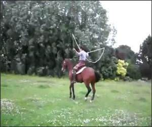 Funny Jump Roping Horse Video