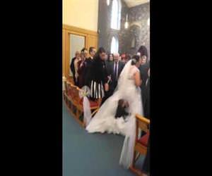 kid belly flops on brides dress Funny Video