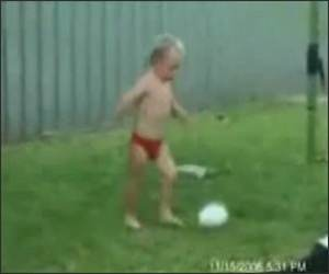 Kid Cant Kick Funny Video