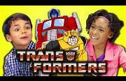 kids react to the transformers Funny Video