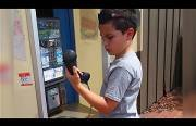 kids reaction to a pay phone Funny Video