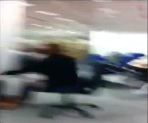Library Chair Roll Fail Video
