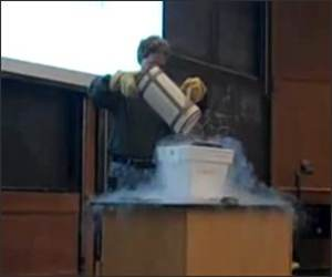 Liquid Nitrogen Laptop Funny Video