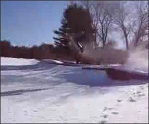Lost Snowmobile Funny Video
