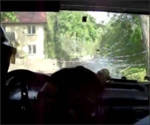 Lucky Racecar Crasher Funny Video