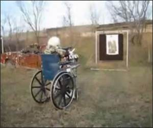 Machine Gunning Granny Funny Video