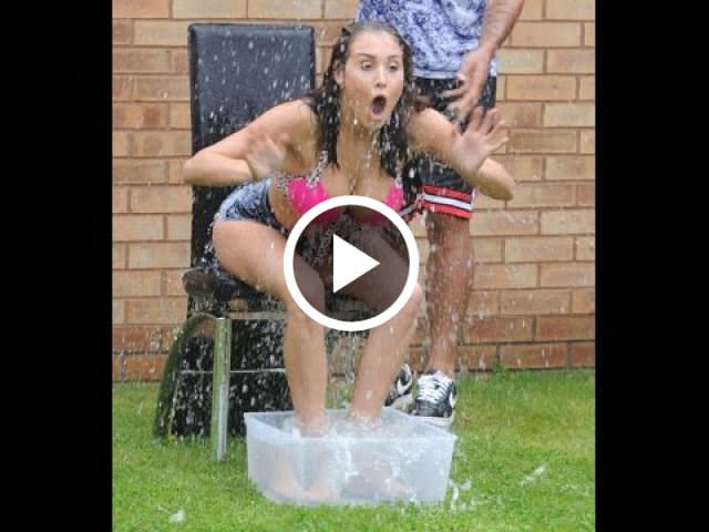 Girl Fails Ice Bucket Challenge Ice Bucket Challenge Fails