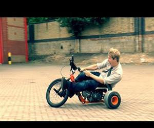 motorized drifting trike Funny Video