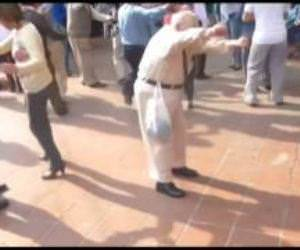 Old Man Dancing with crutches Funny Video