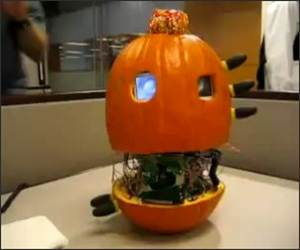 Robot Pumpkin Video