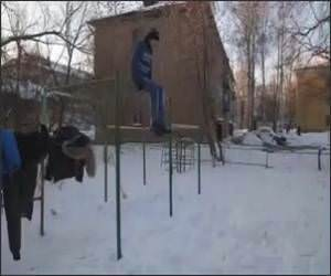 Russian Snow Flip Video