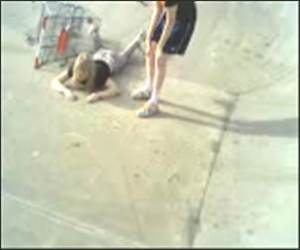 Shopping Cart Face Plant