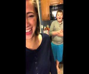 sister impresses her brother with fart Funny Video