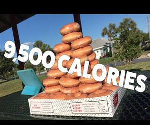skinny girl eating 50 donuts Funny Video