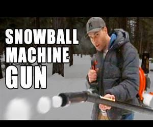 snowball machine gun Funny Video