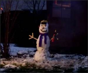 Snowman Explosion Funny Video