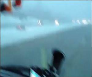 Speeding Snow Median Funny Video