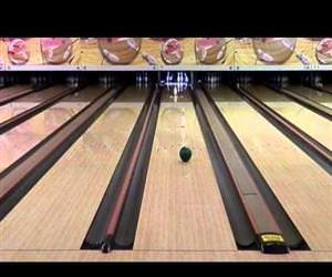 spinning bowling trick shots Funny Video