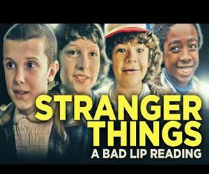stranger things bad lip reading Funny Video