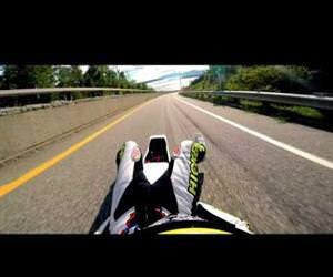 street luge 100mph caught on gopro Funny Video